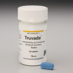 Truvada Bottle and Tablet